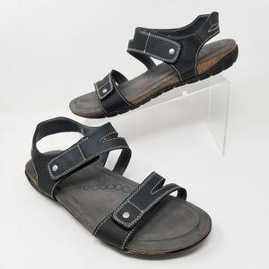 Khombu Womens Ava Comfort Footbed Sandals Black